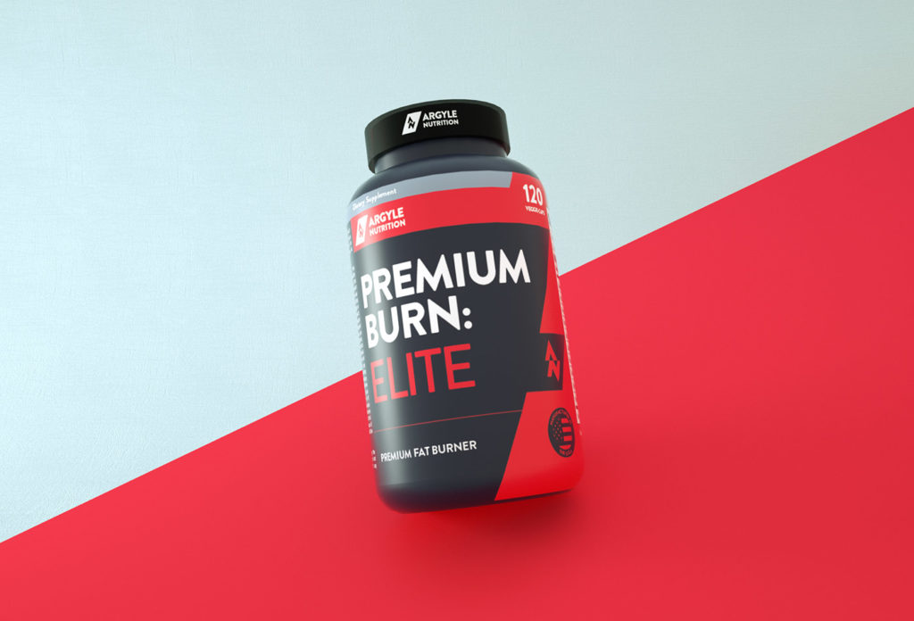 Protein supplement 3d render design label