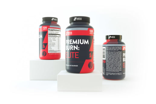 protein supplement design 3d render graphic label