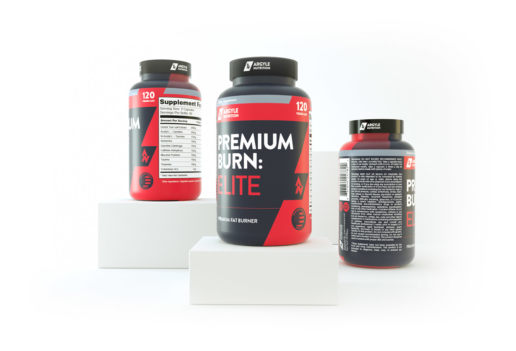 protein supplement design 3d render graphic label