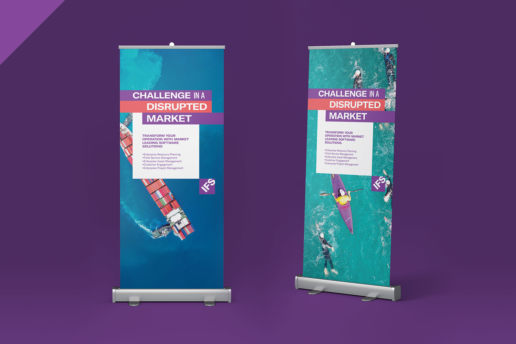 Pull-up banner designs for trade shows and exhibitions
