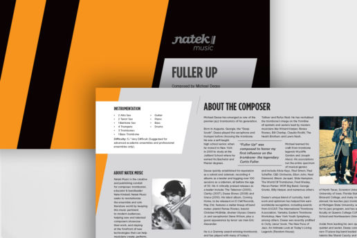 brochure music graphic design
