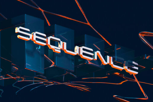 Seqeunce lettering digital abstract design 3d cinema 4d