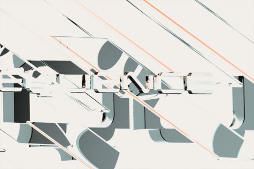 Lettering minimal typography abstract design