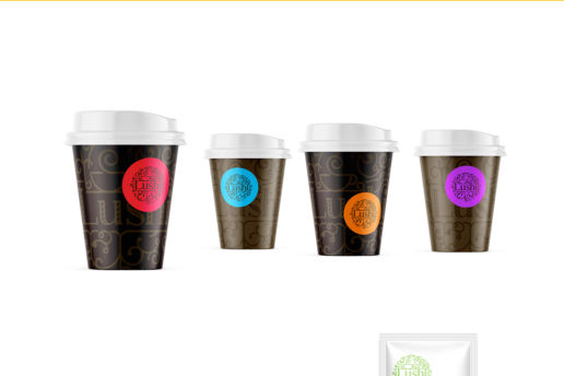 Take away coffee cup branding