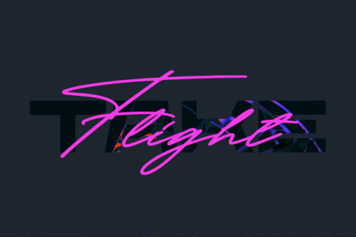 Lettering Typography synthwave retrowave
