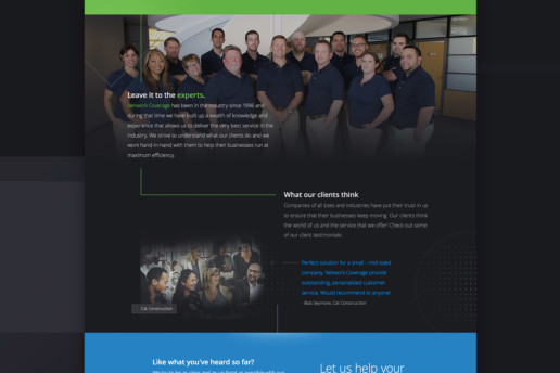 technology website design it company