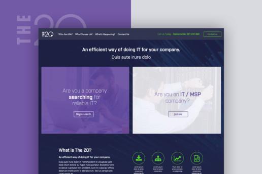 it company website design modern