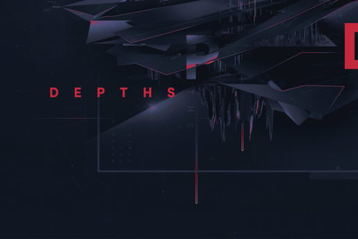 Typography digital abstract design