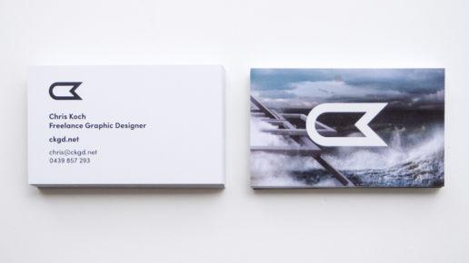 Business Card Design Modern Print