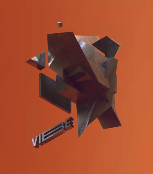 vibe 3d abstract render geometric isometric trendy
