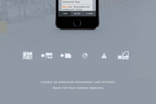 warehouse ios app design