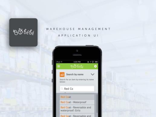 warehouse management app design