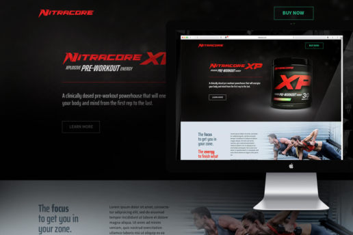 website-design-protein-supplement-fitness-modern