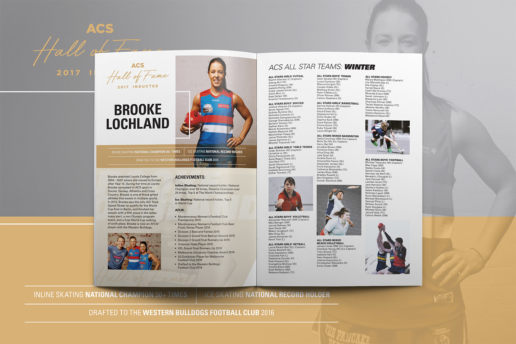 Western Bulldogs Brochure Design AFLW