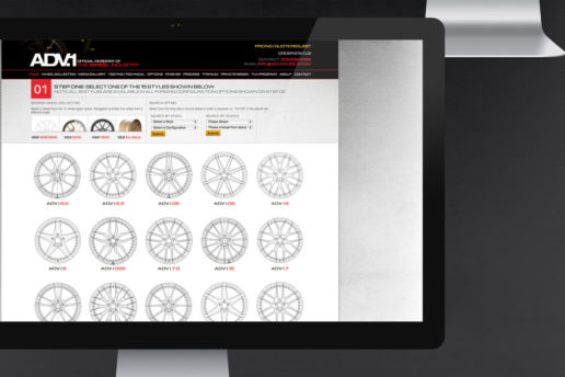 Wheel selection website design aftermarket parts