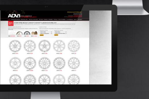Wheel selection website design aftermarket parts