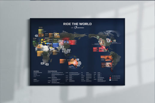 Zac Speed custom map design print promotional freelance